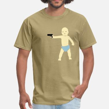 Comic baby gun - Men's T-Shirt
