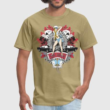 Pin Up Girl - Car Show No.01 - Men's T-Shirt