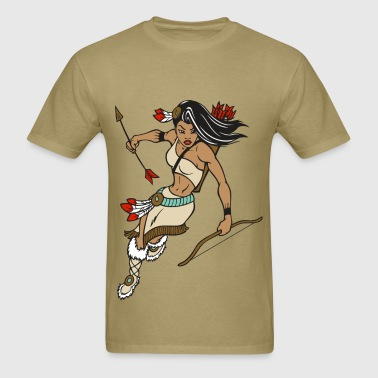 Indian Princess Warrior - Men's T-Shirt