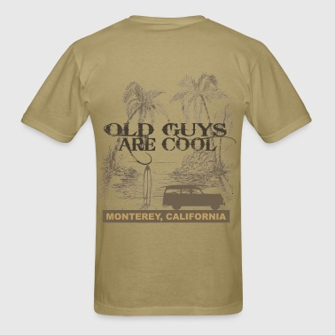 Old Guys Are Cool California Pocket - Men's T-Shirt