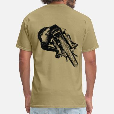 Rearing Motorcycle Cafe Racer rear view for light material - Men's T-Shirt