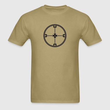 Sioux medicine wheel, arrows Spirit, enlightenment - Men's T-Shirt