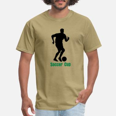 Soccer Player Silhouette 01 - Men's T-Shirt