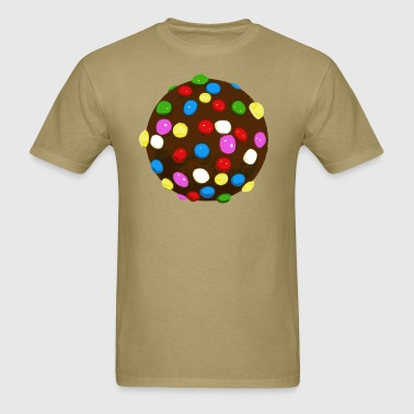 Chocolate Candy Color Ball - Men's T-Shirt