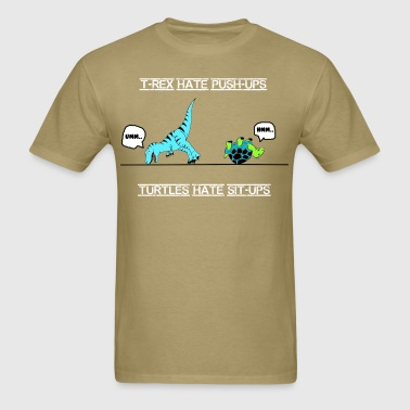 trex_turtle_work_out - Men's T-Shirt