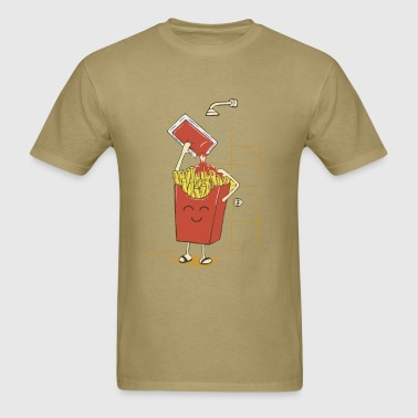 Funny fries with ketchup - Men's T-Shirt