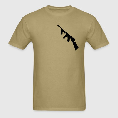 thompson  gun - Men's T-Shirt