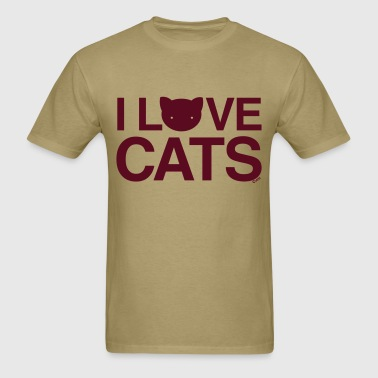 love cats Cat Versus Humans mp - Men's T-Shirt