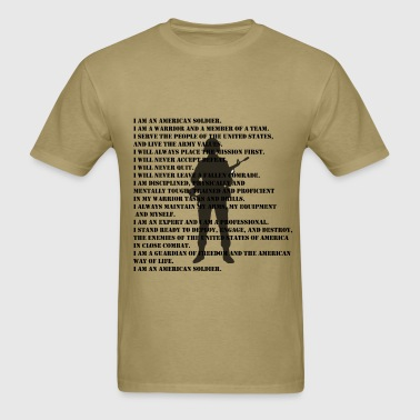 Army Soldier Creed - Men's T-Shirt