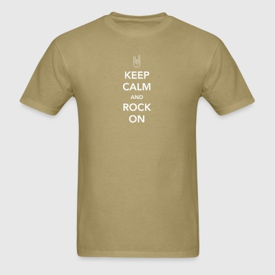 Rock - Keep Calm and Rock On - Men's T-Shirt