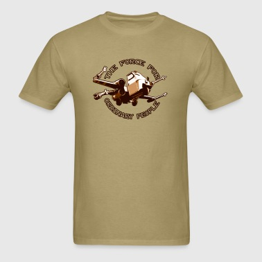 X-wing fighter ordinary people brown - Men's T-Shirt
