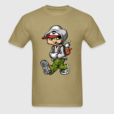 Graffiti boy and bag - Men's T-Shirt
