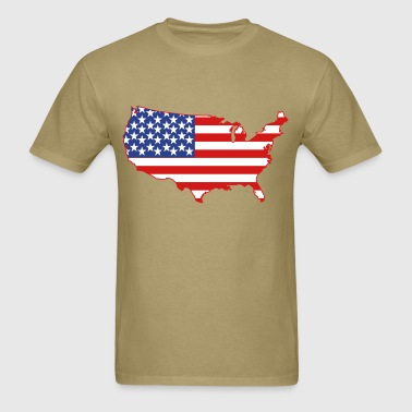 American Flag USA Shape - Men's T-Shirt