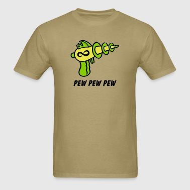 Alien Ray Gun - PEW PEW PEW - Men's T-Shirt