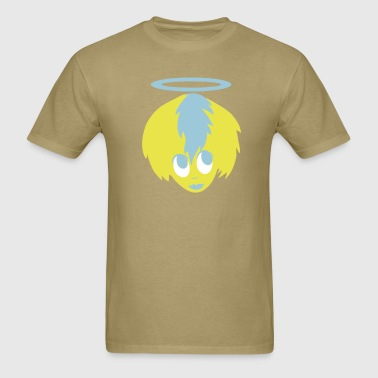 angel girl face with halo bride to be! - Men's T-Shirt