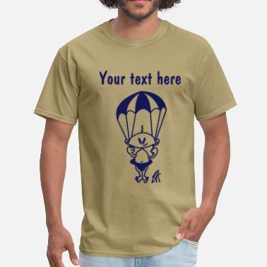 Parachuting Baby - Men's T-Shirt