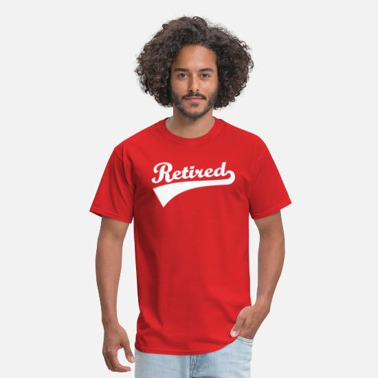 Retirement T-Shirts - Retired - Men's T-Shirt red