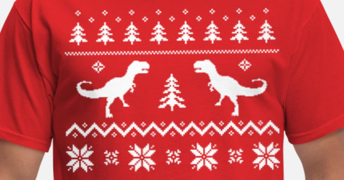 Dinosaur Christmas Sweater.Ugly T Rex Dinosaur Christmas Sweater Men S T Shirt Spreadshirt