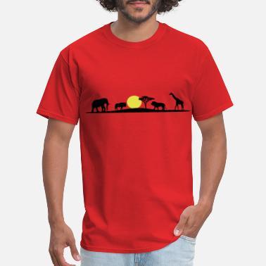 c555466f African Animals African savanna, elefant, lion, giraffe - Men's. Men's T -Shirt