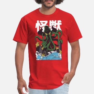 Cthulhu Japanese Cthulhu attacks - Men's T-Shirt
