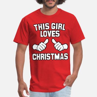 This Girl Loves Chrismas SANTA CLAUS Holiday Junior Fit Tee Shirt 390