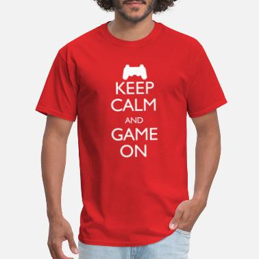 Video Keep Calm And Game On - Men's T-Shirt