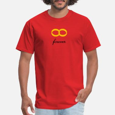 Infinity wedding rings forever - Men's T-Shirt