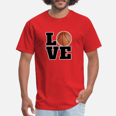 I Love Basketball Basketball - I Love Basketball With Love - Men's T-Shirt