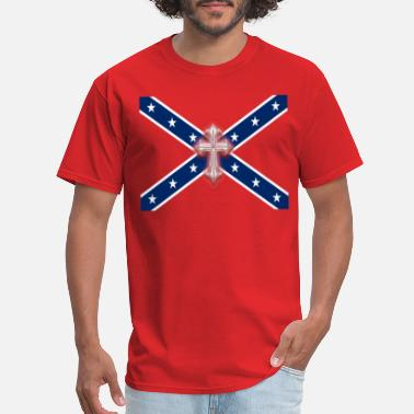 Confederate Confederate Stars & Cross - Men's T-Shirt
