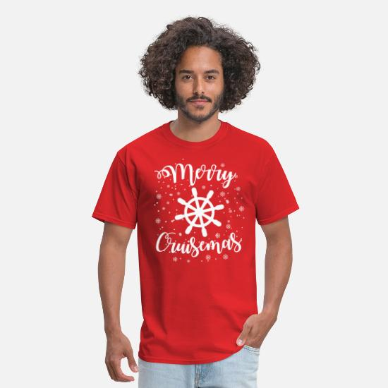 Christmas T-Shirts - Merry Cruisemas Funny Christmas Cruise - Men's T-Shirt red