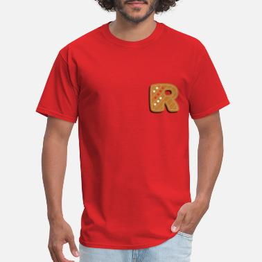 Alphabet First Name First Letter of the Name R - Men's T-Shirt