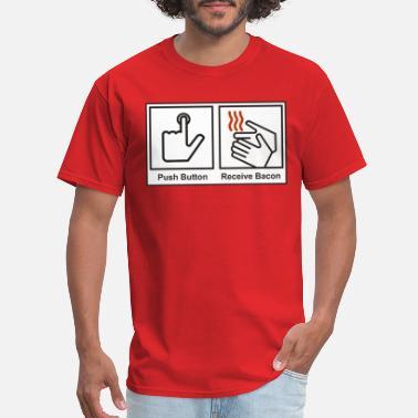 49695c05 Push button receive bacon - Men's T-Shirt