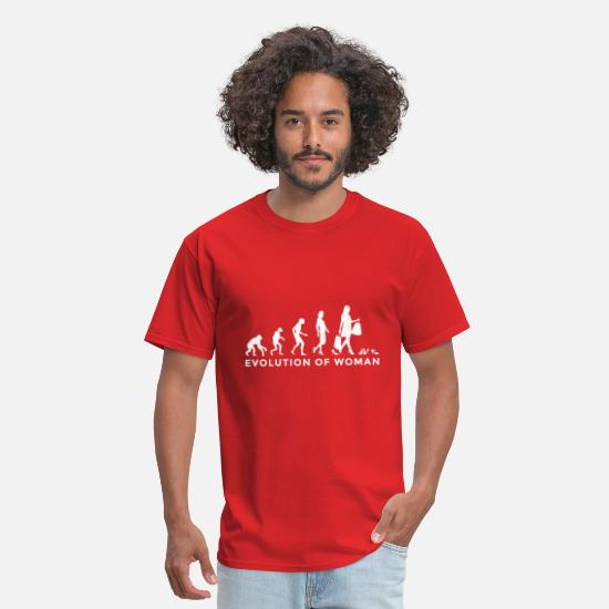 Time Travel T-Shirts - Female Woman Evolution - Men's T-Shirt red