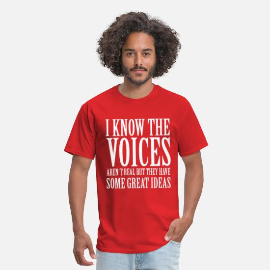 Funny T-Shirts - Voices - Men's T-Shirt red