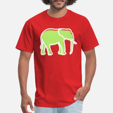 Trunk Tusk A Big Elephant With Trunk - Men's T-Shirt