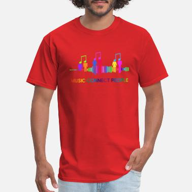 Connecting People music connect people - Men's T-Shirt