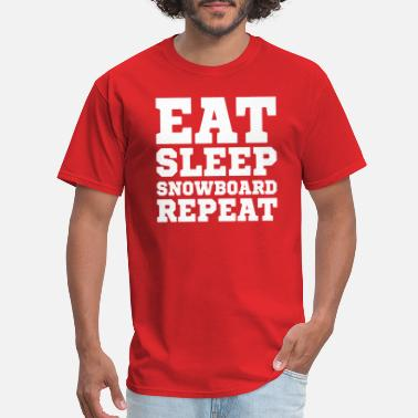 Snowboarding Eat Sleep Repeat Eat Sleep Snowboard Repeat - Men's T-Shirt