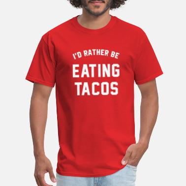 Id Rather Be Eating Tacos  Funny Humor Heather Gray Men/'s Tri-Blend T-Shirt