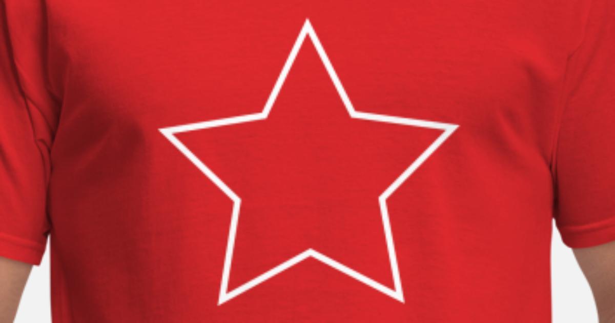 Star Shape Outline Men's T-Shirt