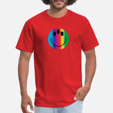 Gay Smiley rainbow smiley - Men's T-Shirt