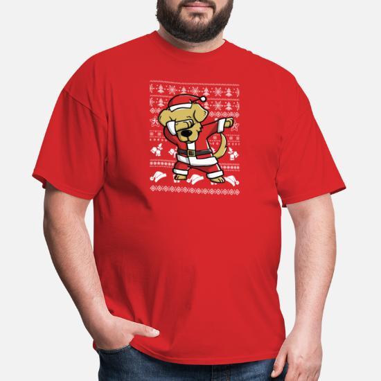 2d1375121c Golden Retriever T-Shirts - Golden Retriever Dab dance Funny for Christmas  - Men's T. Customize
