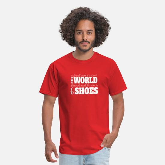 Really T-Shirts - Truth and lies - Men's T-Shirt red