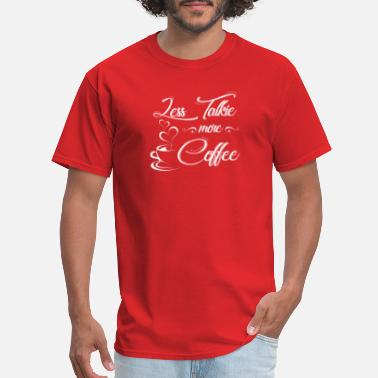 Mascara And Coffee less talkie more coffee - Men's T-Shirt