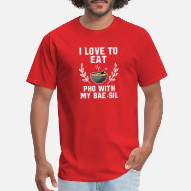 I Love Vietnam I Love To Eat Pho With My Bae-sil T-Shirt - Men's T-Shirt
