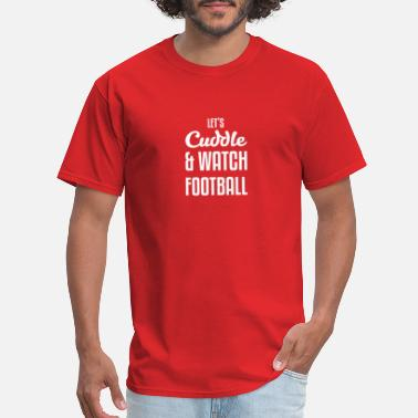 Football Theme Cuddling gift for Football Fans - Men's T-Shirt
