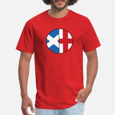 Dual Flags Scottish English Flags Dual Heritage Classic - Men's T-Shirt
