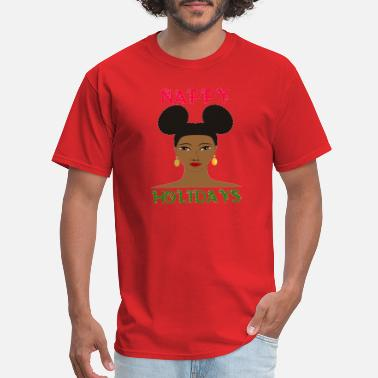 Hair Puffs Nappy Holidays Puffs - Men's T-Shirt