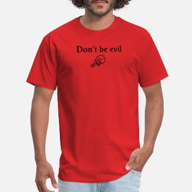 Crooked don't be evil - Men's T-Shirt