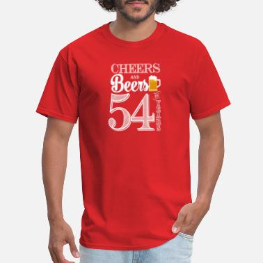 54 Years Cheers and Beers To 54 Years - Men's T-Shirt