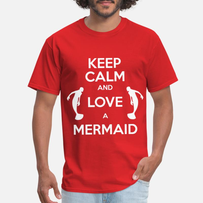 7c5130b6c2 Shop Keep Calm And Love A Mermaid T-Shirts online | Spreadshirt